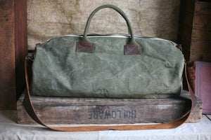 WWII era Canvas Duffel Bag - SOLD