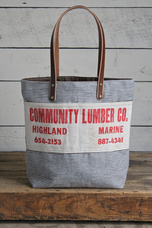 1950's era Cotton & Work Apron Tote Bag