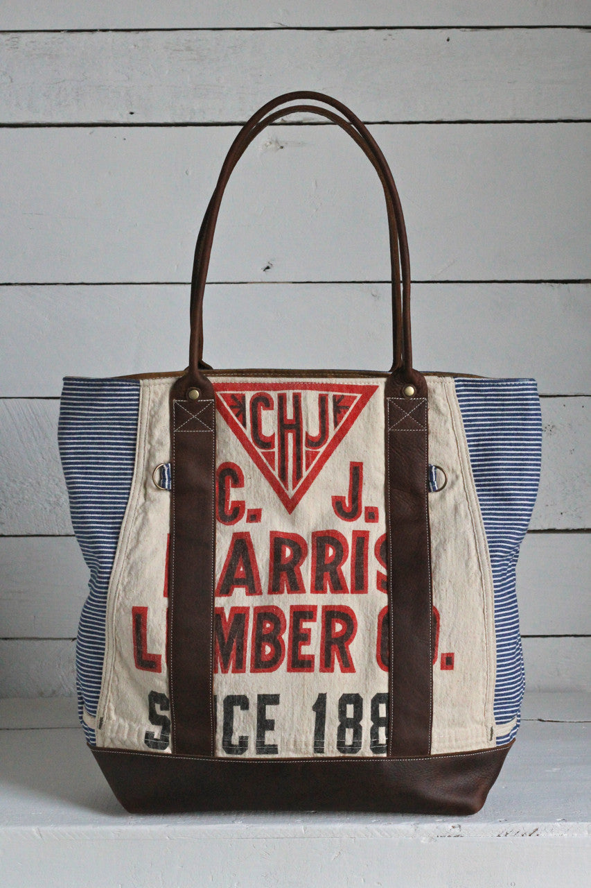 1930's era Striped Lumber Apron Carryall