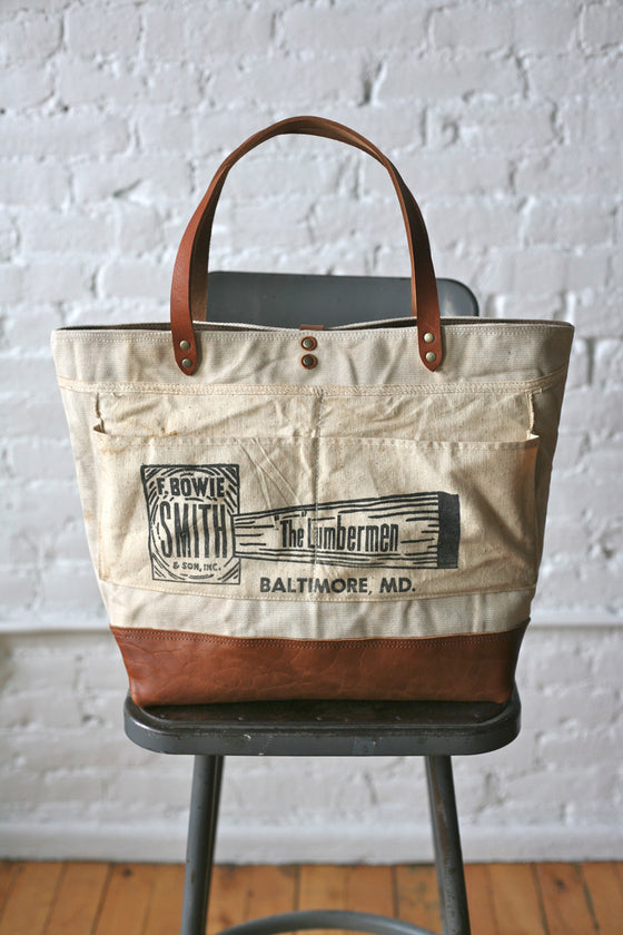 2009d53f8 WWII era Canvas & Work Apron Carryall