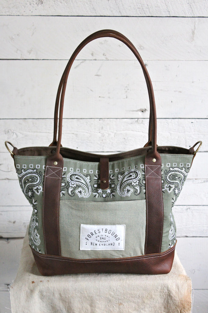 1950's era Bandana Weekend Bag