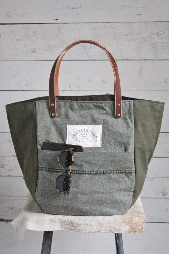 WWII Canvas & Work Apron Carryall