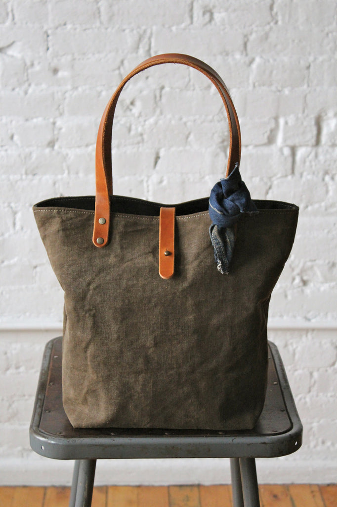 World War 1 era Black Canvas Tote Bag