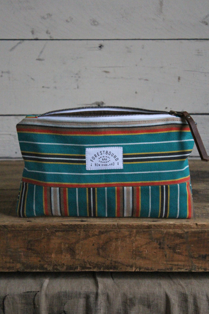 1950's era Striped Canvas Utility Pouch