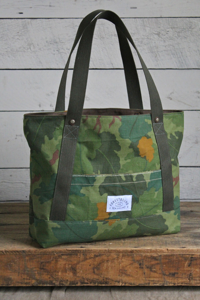 1950's era Leaf Pattern Camo Carryall