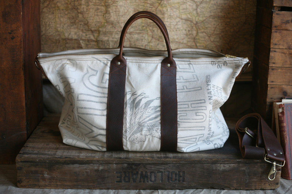 1940's era Canvas & Leather Weekend Bag - SOLD