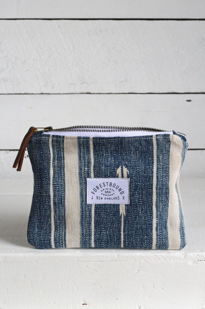 Indigo Dyed Cotton Utility Pouch / #5