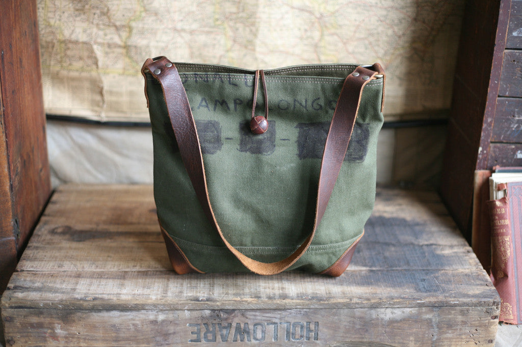 WWII era Canvas Side Bag - SOLD - FORESTBOUND 224f96c653bd