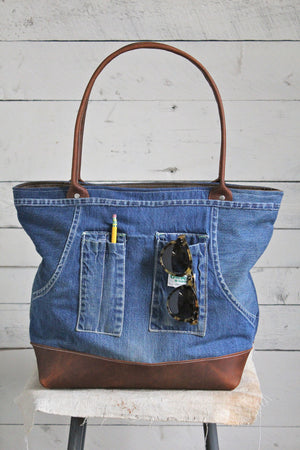 1950's era Era Denim Apron Carryall
