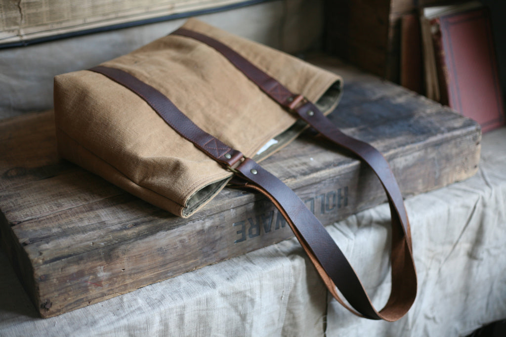 WWI era Canvas Carryall - SOLD