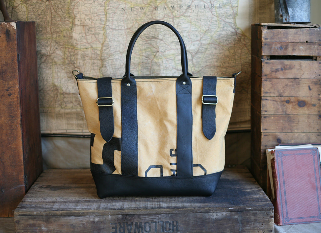 1950's era Canvas and Leather Weekend Bag - SOLD
