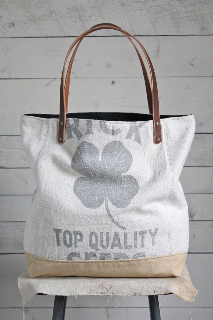 1940's era Lucky Clover Tote Bag