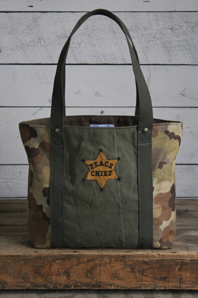 1950's era Cloud Camo Carryall by Forestbound