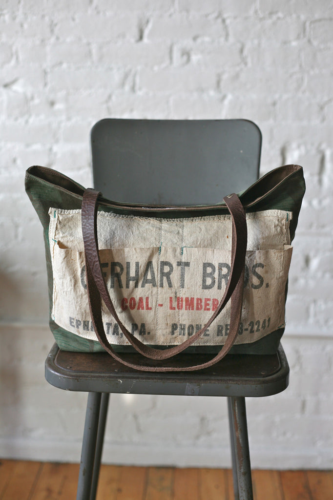 WWII era Camo & Work Apron Tote Bag