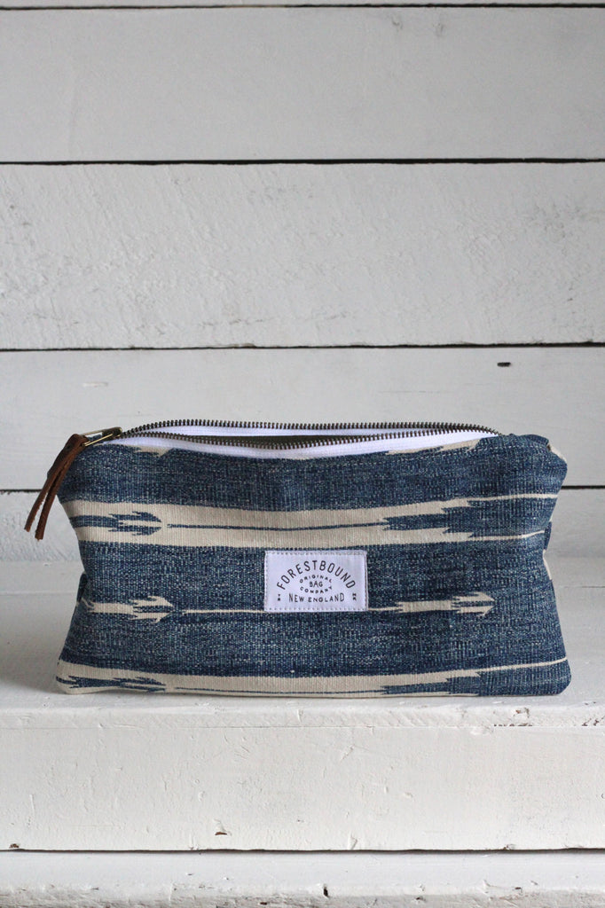 Indigo Dyed Cotton Utility Pouch