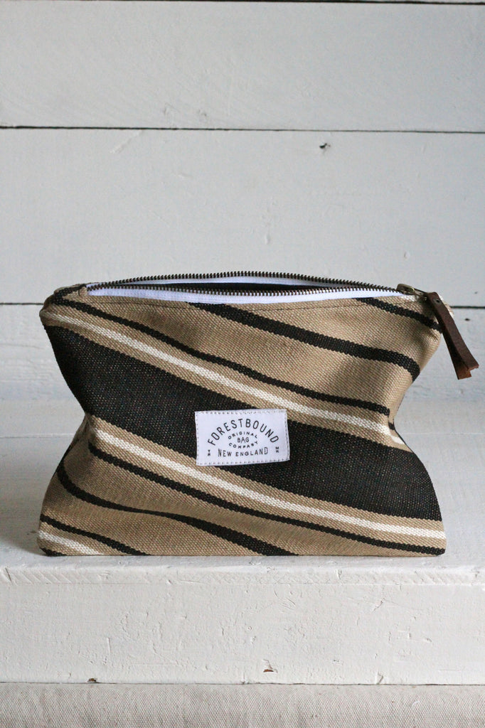Deadstock Woven Striped Cotton Utility Pouch