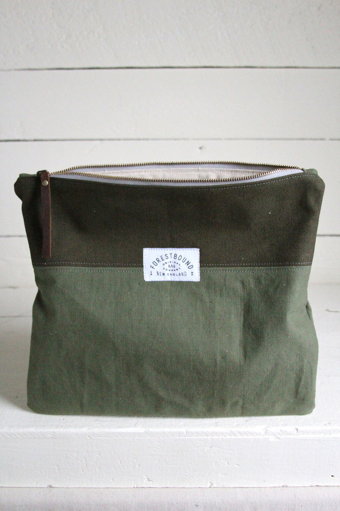 Extra Large WWII era Canvas Utility Pouch