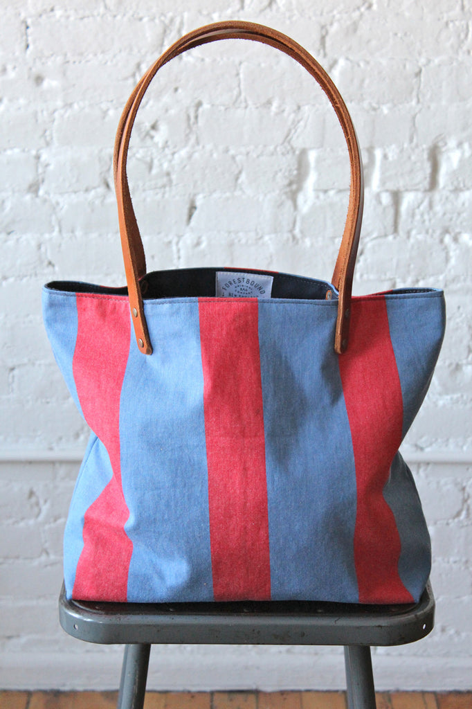 1960's era Striped Postal Tote Bag