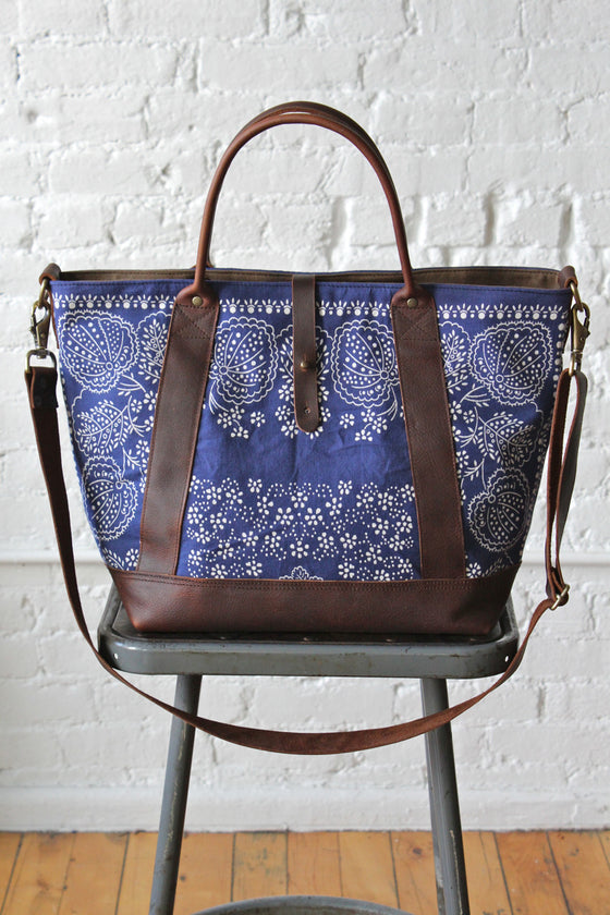 Salvaged Blue Bandana Weekender