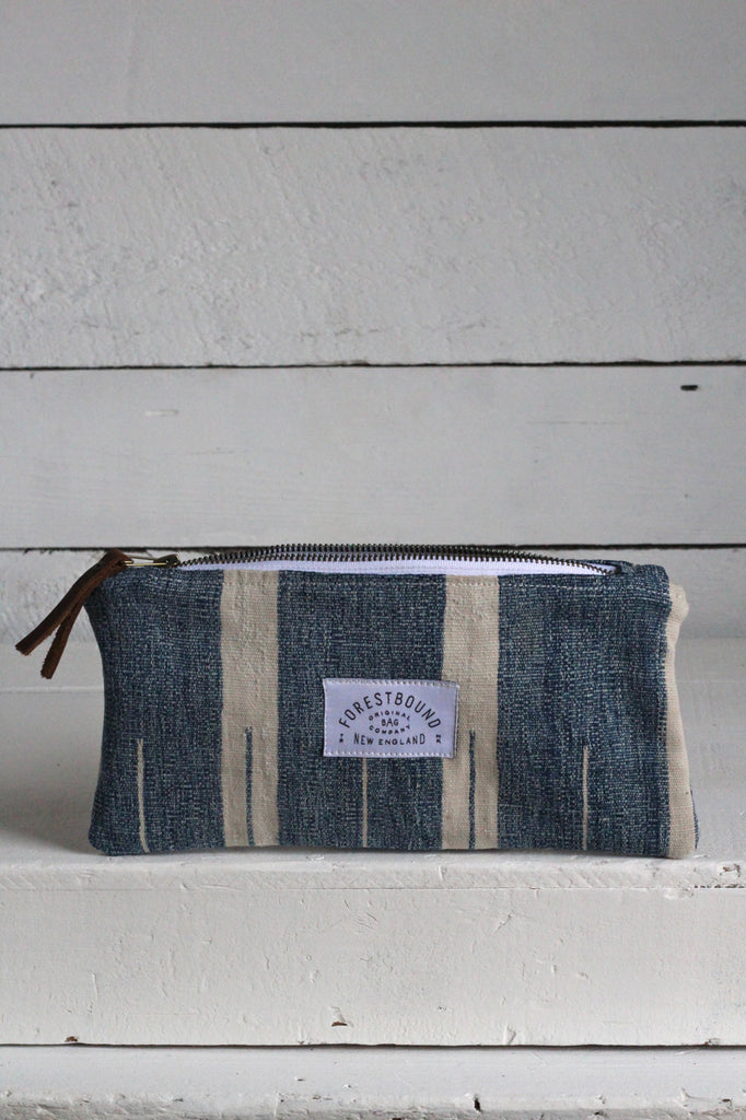 Indigo Dyed Cotton Utility Pouch / #4