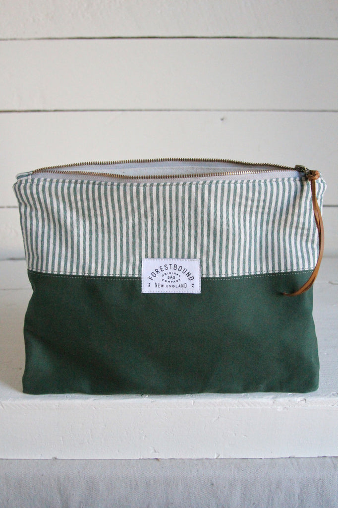 Extra Large 1940's era Canvas Utility Pouch