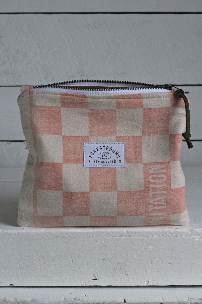 1950's era Farm Feedsack Utility Pouch