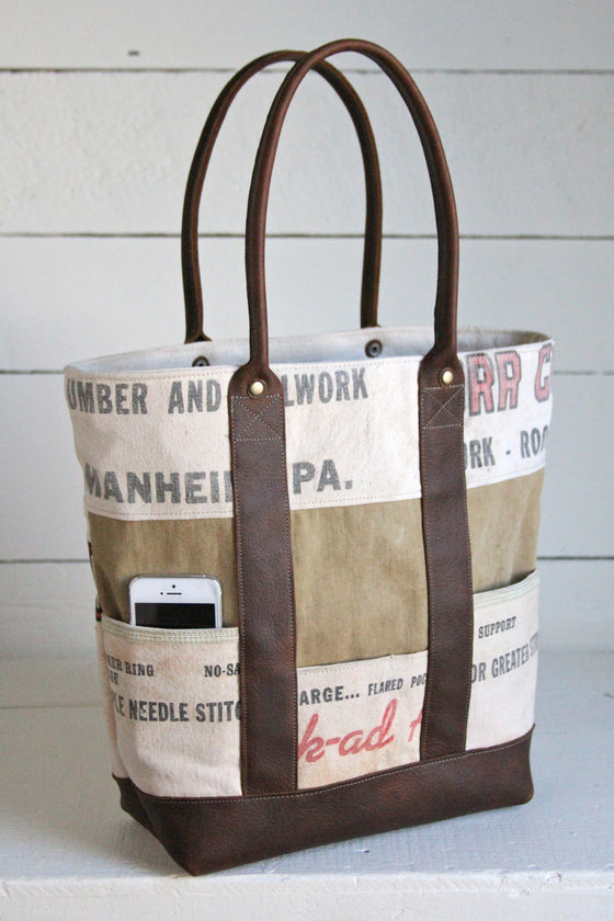 1940's era Canvas and Work Apron Carryall