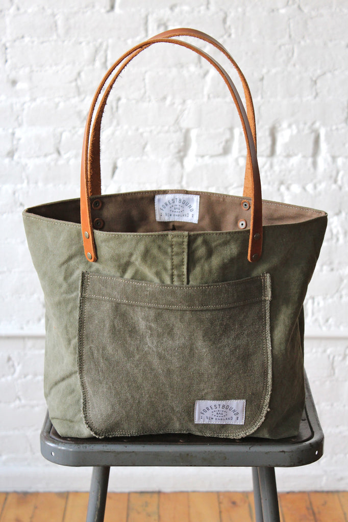 WWII era Military Canvas Pocket Tote