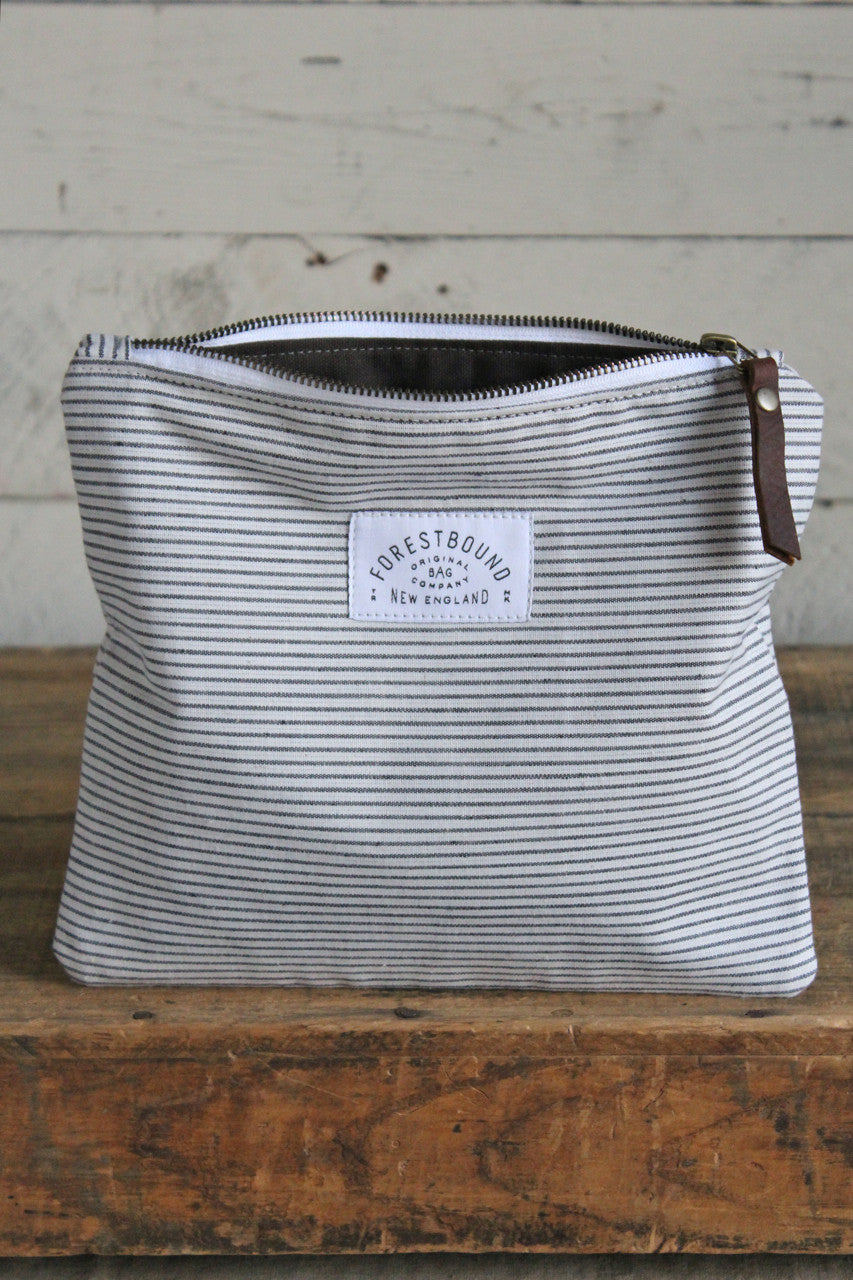 1950's era Striped Cotton Utility Pouch