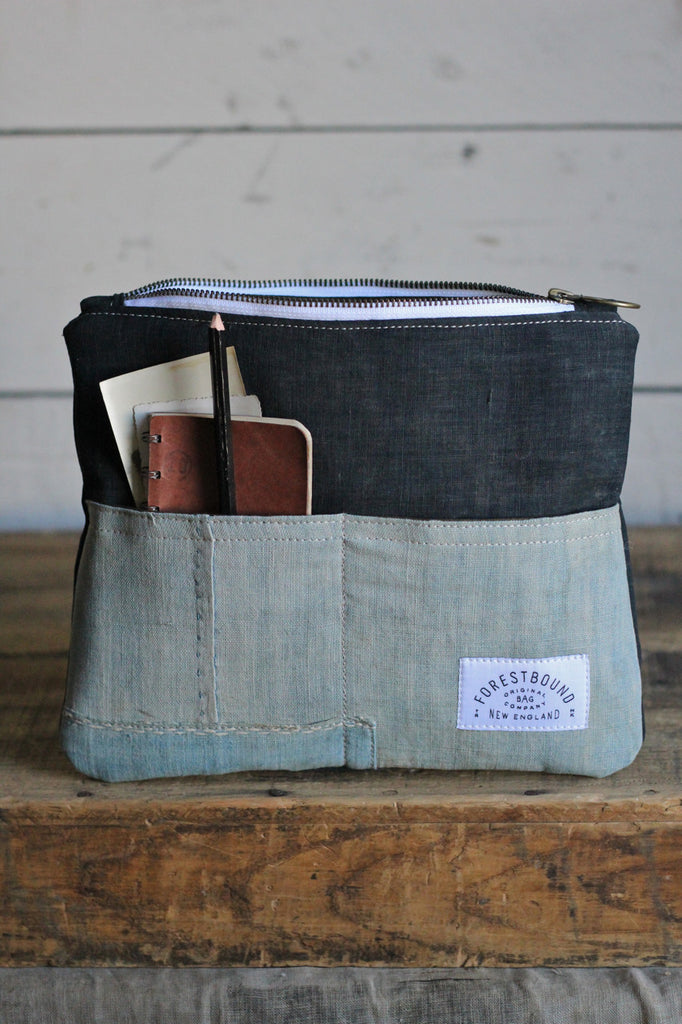 Early 1900's Japanese Indigo Dyed Cotton Utility Pouch