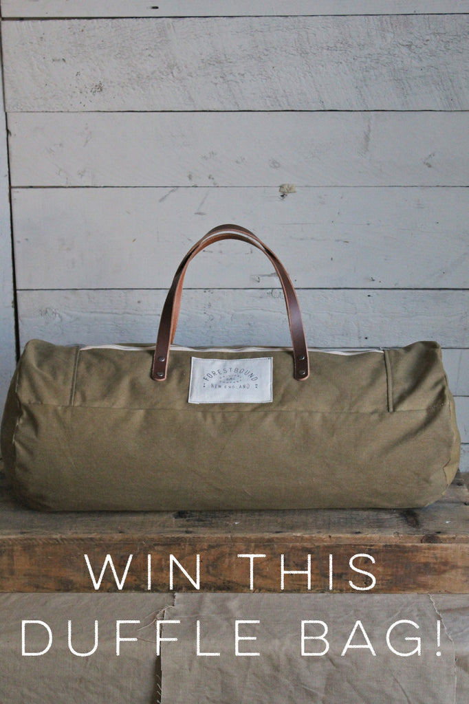 RAFFLE TICKET - WWII Canvas Duffle Bag