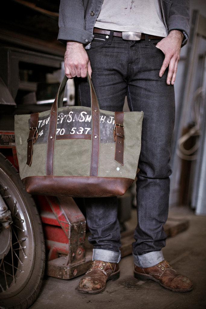 Men's WWII Canvas & Leather Carryall