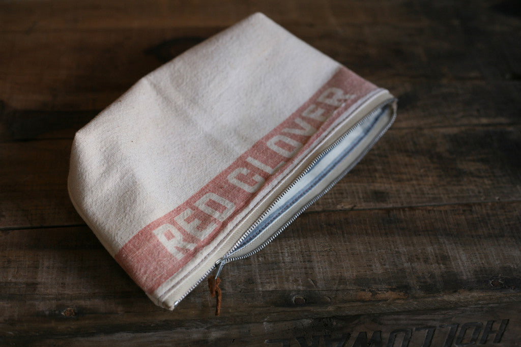 1940's era Cotton Feedsack Utility Pouch - SOLD