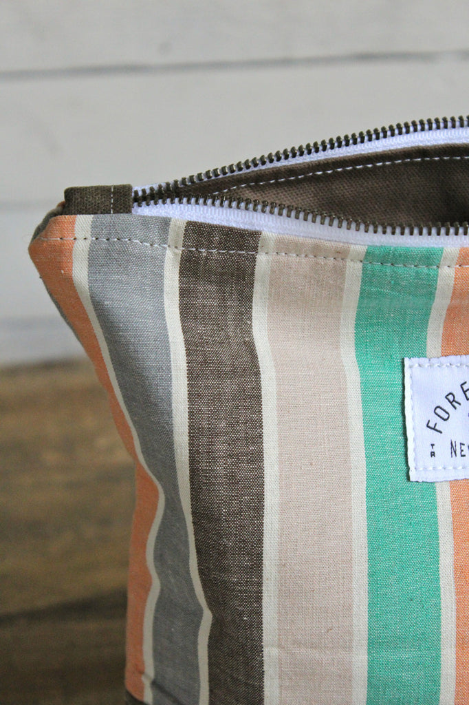 1940's era Striped Feed Sack Utility Pouch