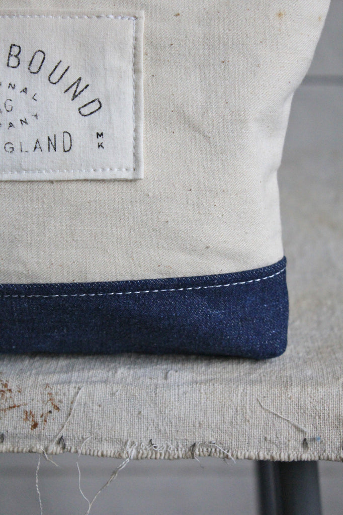 WWII era Denim & Canvas Utility Pouch
