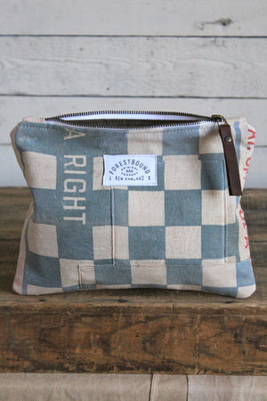 1950's era Checkered Feed Sack Utility Pouch