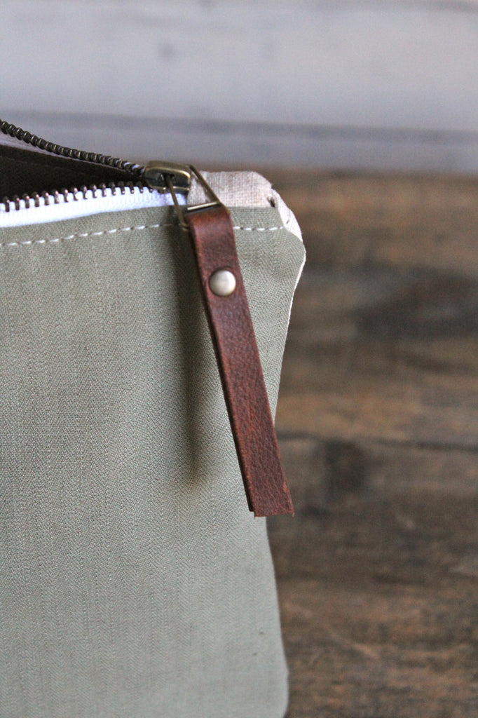 Large 1940's era Brooklyn Canvas Utility Pouch