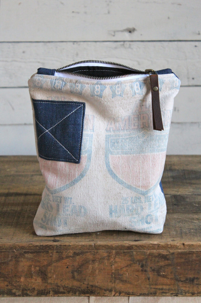 1940's era Denim & Shot Bag Pocket Utility Pouch