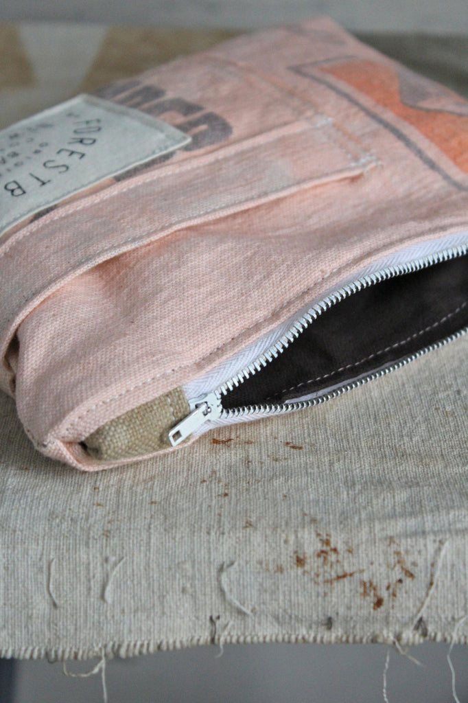 1950's era Feed Sack Pocket Utility Pouch
