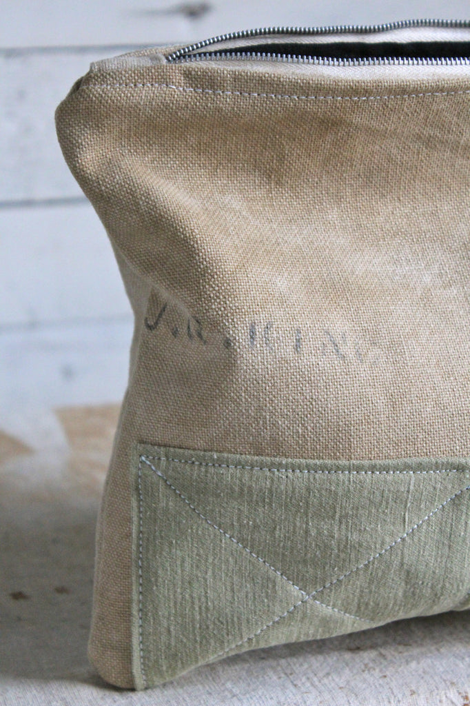 WWII era Patched Canvas Utility Pouch