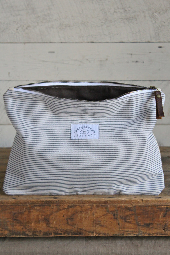 1950's era Striped Cotton & Lumber Apron Utility Pouch