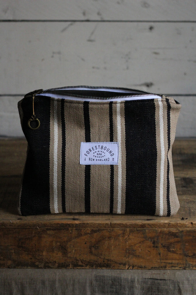 Deadstock Woven Striped Cotton Pocket Utility Pouch