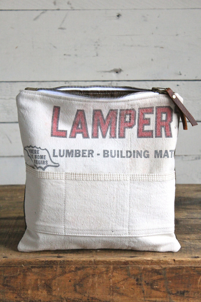 World War 1 Canvas & Lumber Apron Utility Pouch