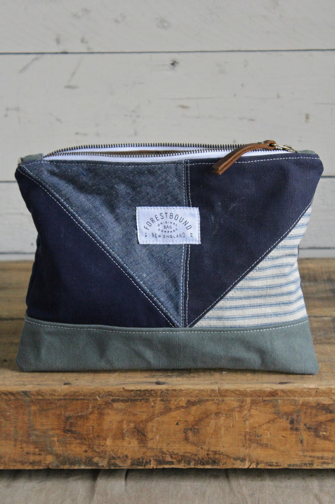 1940's era Quilted Denim and Canvas Utility Pouch