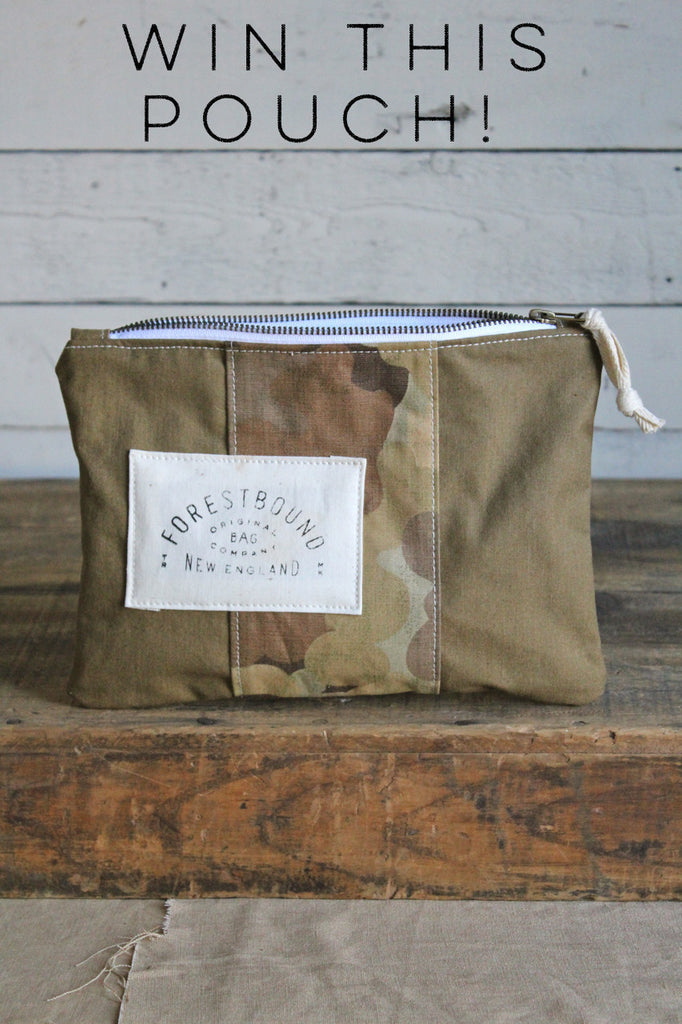 RAFFLE TICKET - Canvas & Cloud Camo Utility Pouch