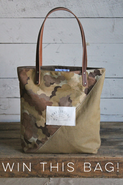 Raffle Ticket Canvas Amp Cloud Camo Tote Bag Forestbound
