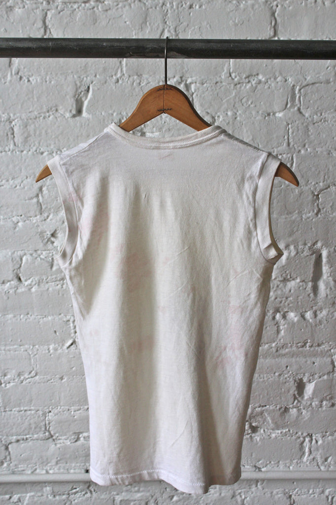 Sleeveless White T-Shirt