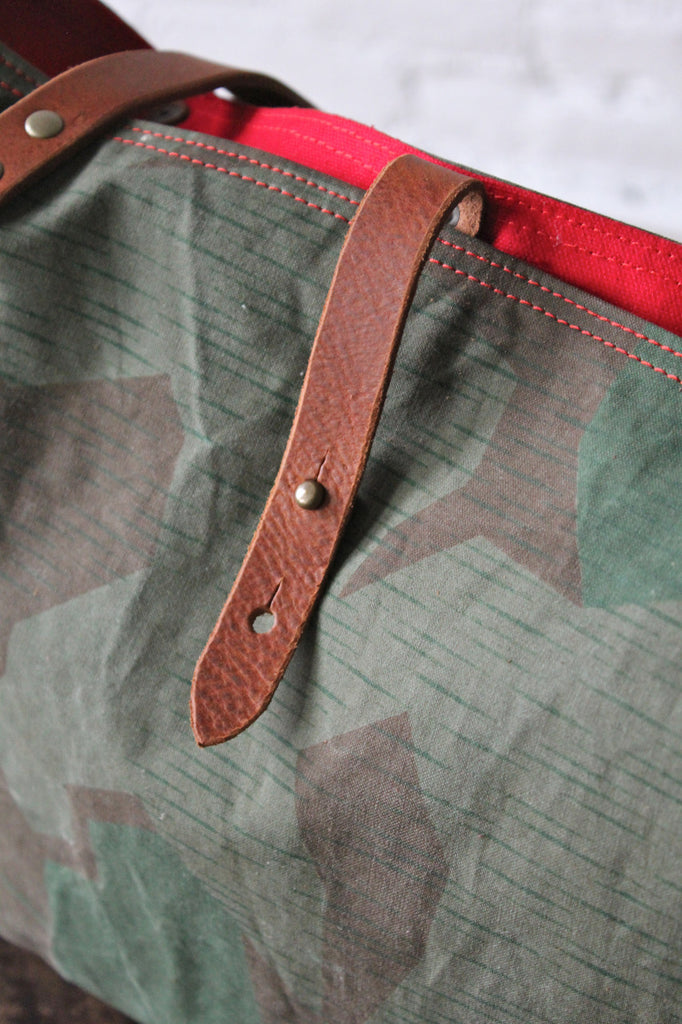 WWII era Swiss Camo Tote Bag