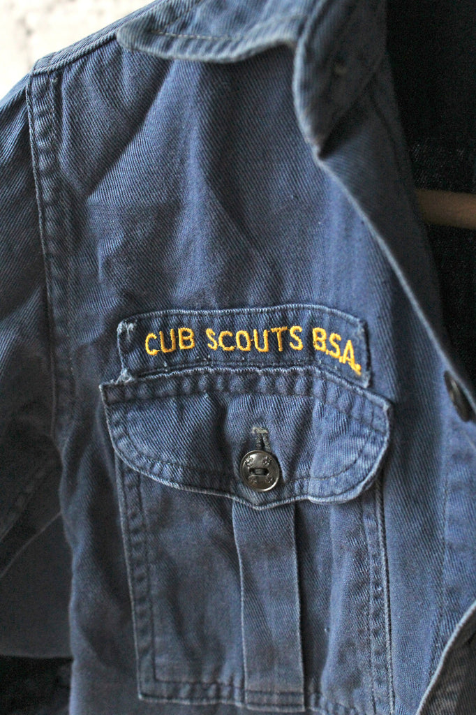 Navy Blue Cub Scout Button Down