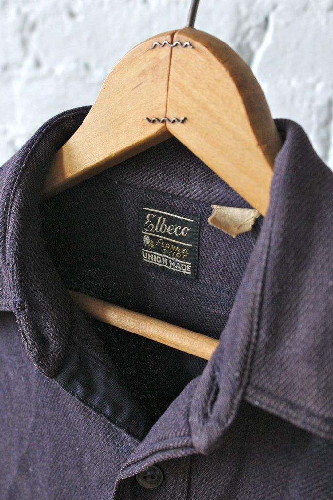 1950s era Blue Flannel Workshirt